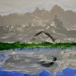 Briley Krug Mountain Painting